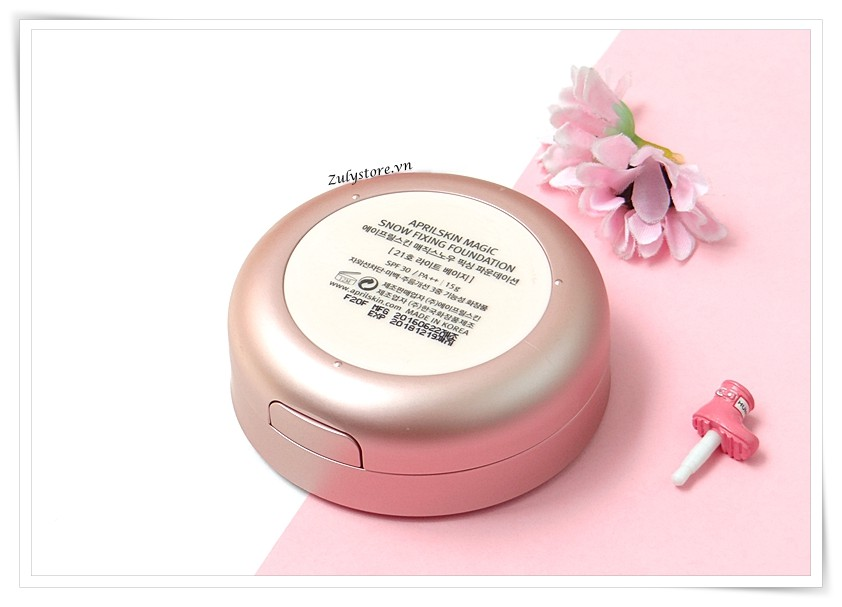Cushion April Skin Magic Snow Fixing Foundation 7