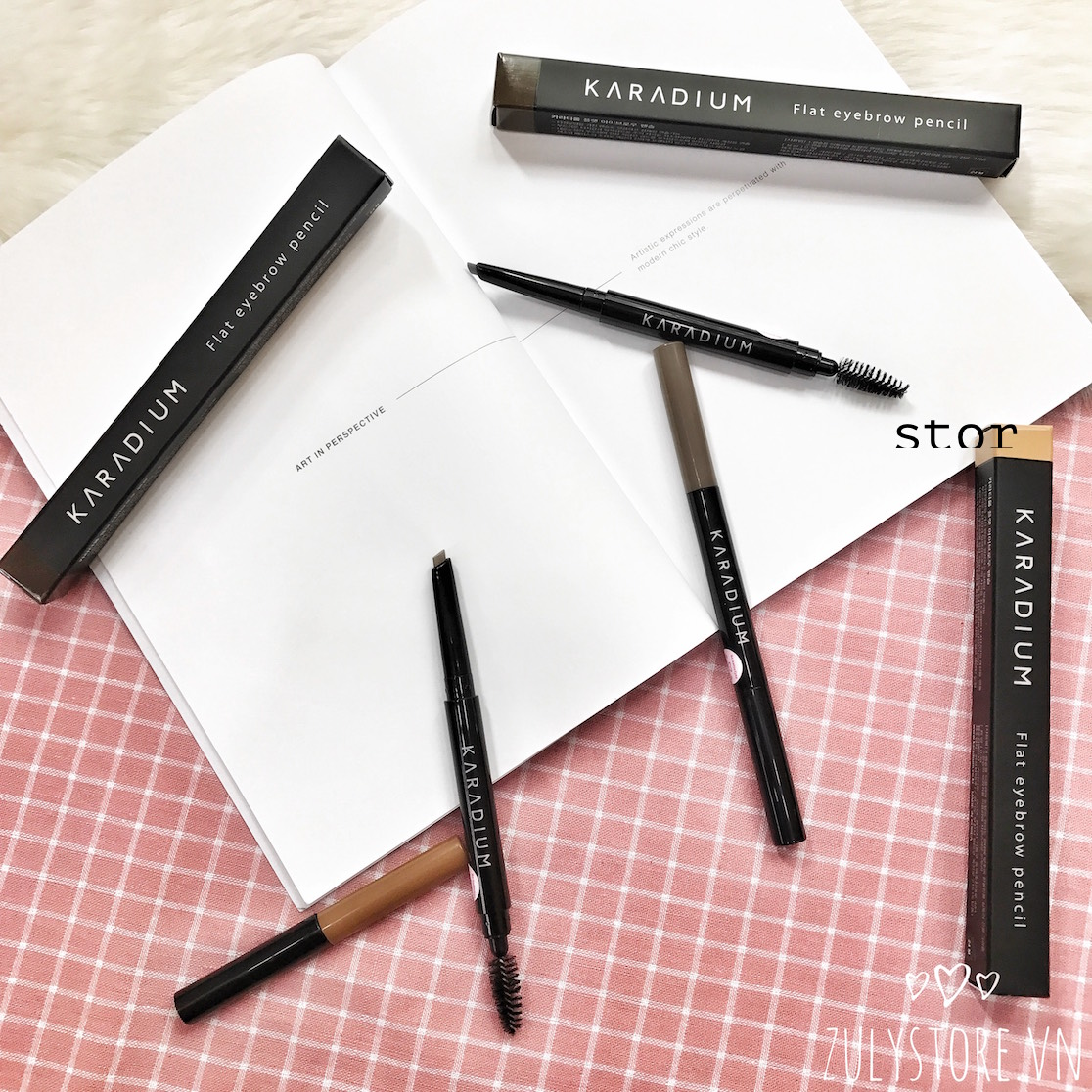Kẻ mày Flat eyebrow pencil Karadium 1