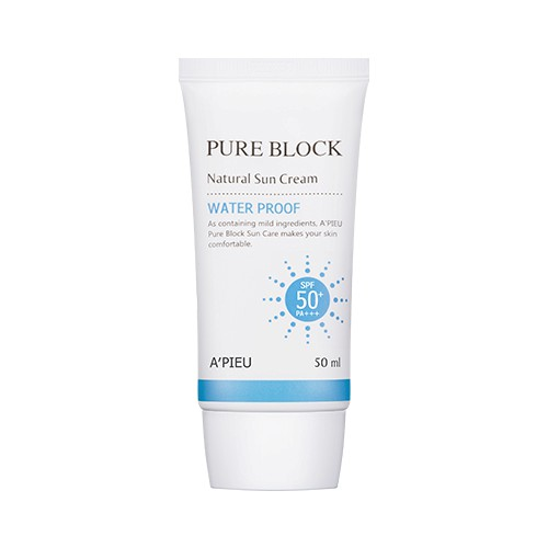 Kem chống nắng Apieu Pure Block Natural Water Proof Suncream SPF50 0