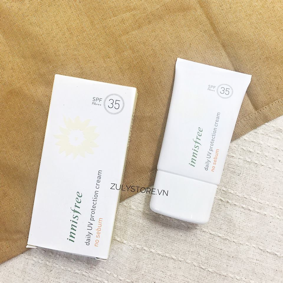 Kem chống nắng Innisfree Daily UV Protection No Sebum SPF 35+++ 2