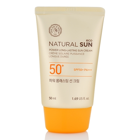 Kem chống nắng Natural Sun Eco Power Long-Lasting SPF50+ The Face Shop 0