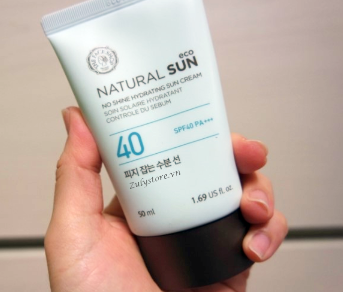 Kem chống nắng The Face Shop Natural Sun No Shine Hydrating Sun Cream 1