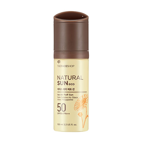 Ken chống nắng Natural Sun ECO Ice Air Puff – The Face Shop 0