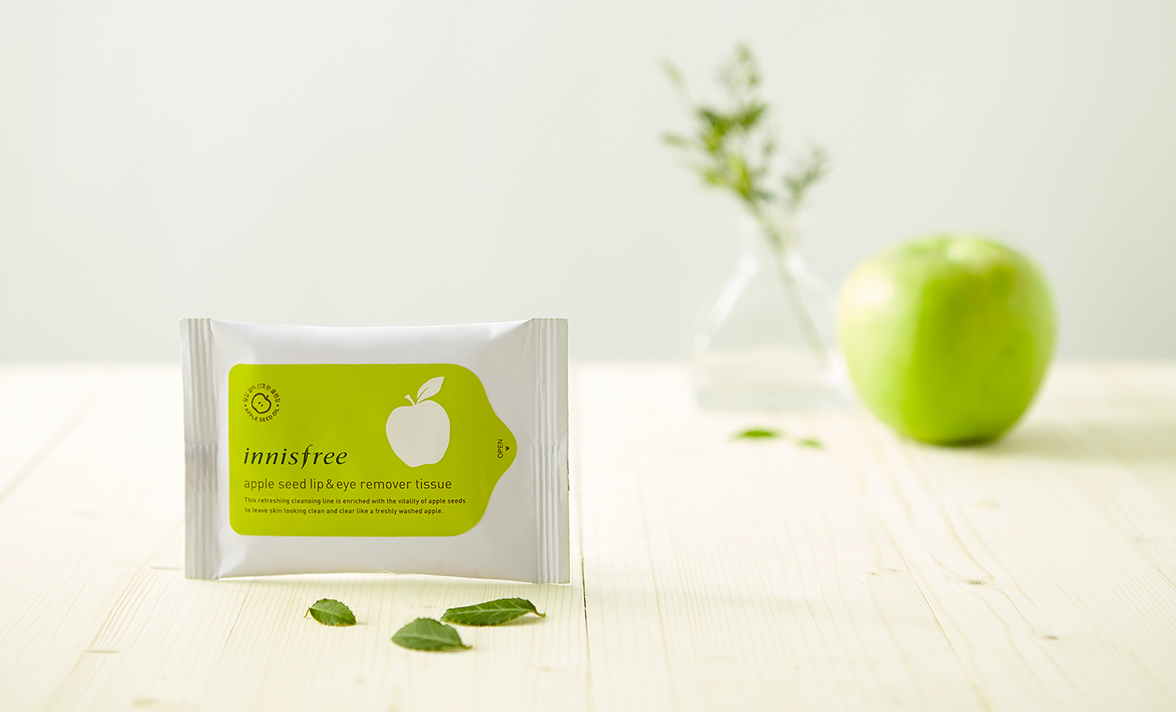 Khăn giấy tẩy trang Innisfree Apple Seed Cleansing Tissue 1