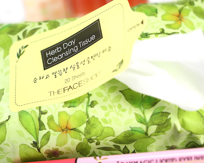 Khăn ướt tẩy trang Herbday cleansing tisue - The Face Shop 2