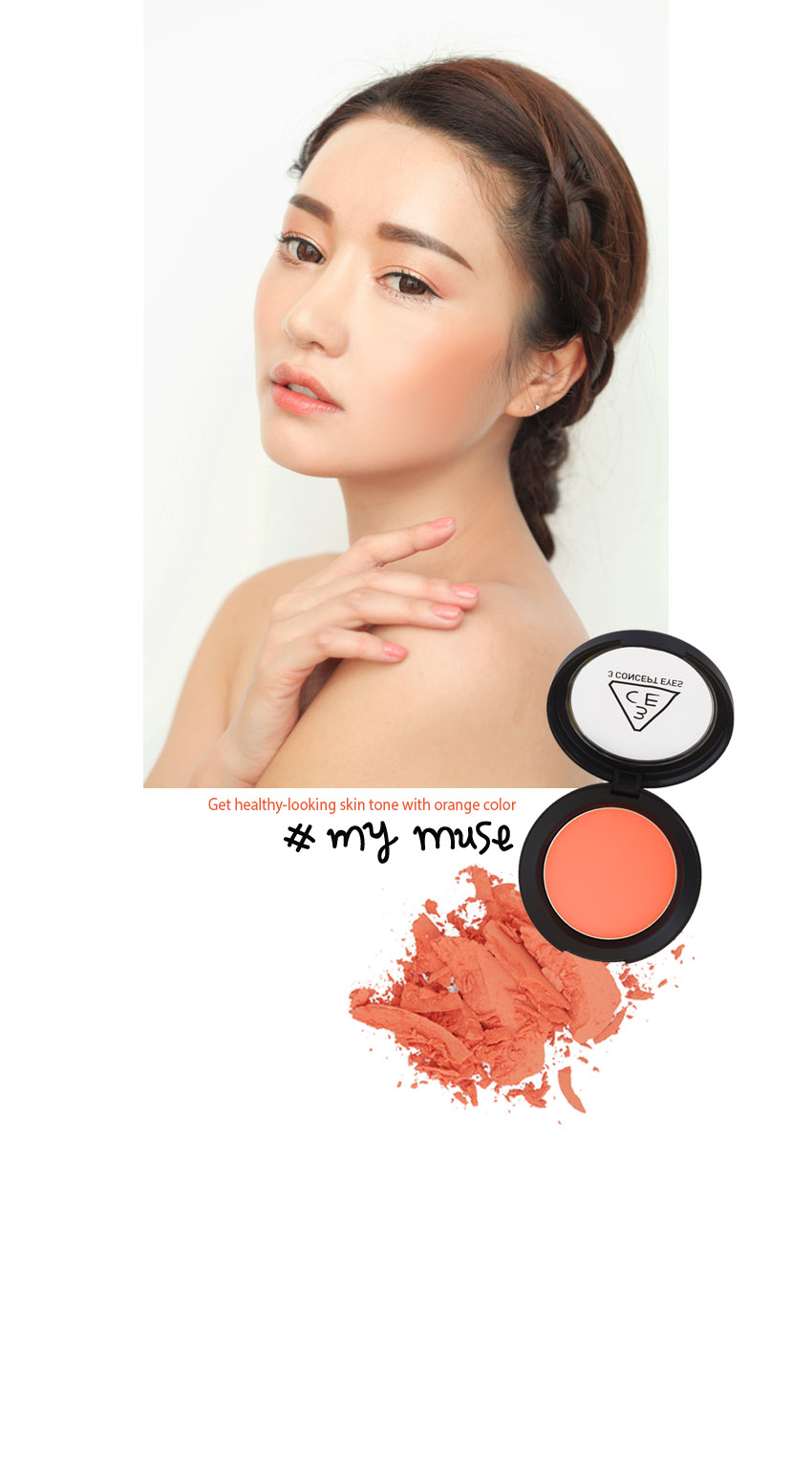 Má hồng Face Blush - 3 Concept Eyes 3