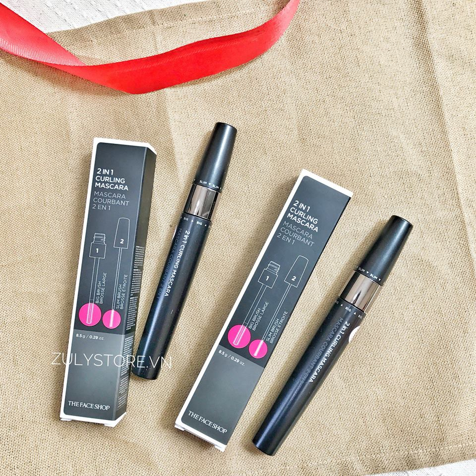 Mascara 2 in 1 Curling The Face Shop 2