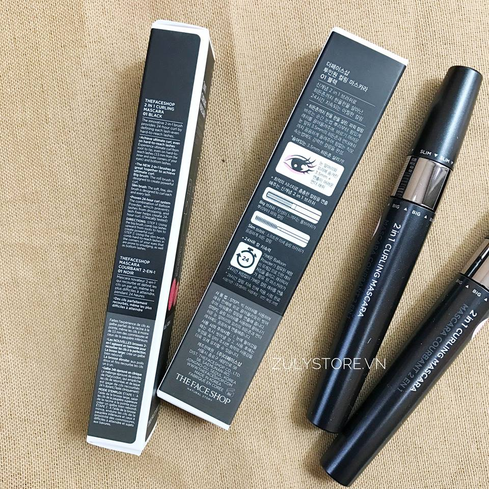Mascara 2 in 1 Curling The Face Shop 4