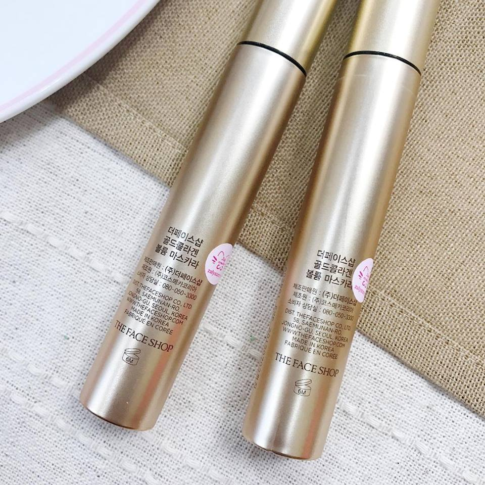 Mascara The Face Shop Gold Collagen Volume 2