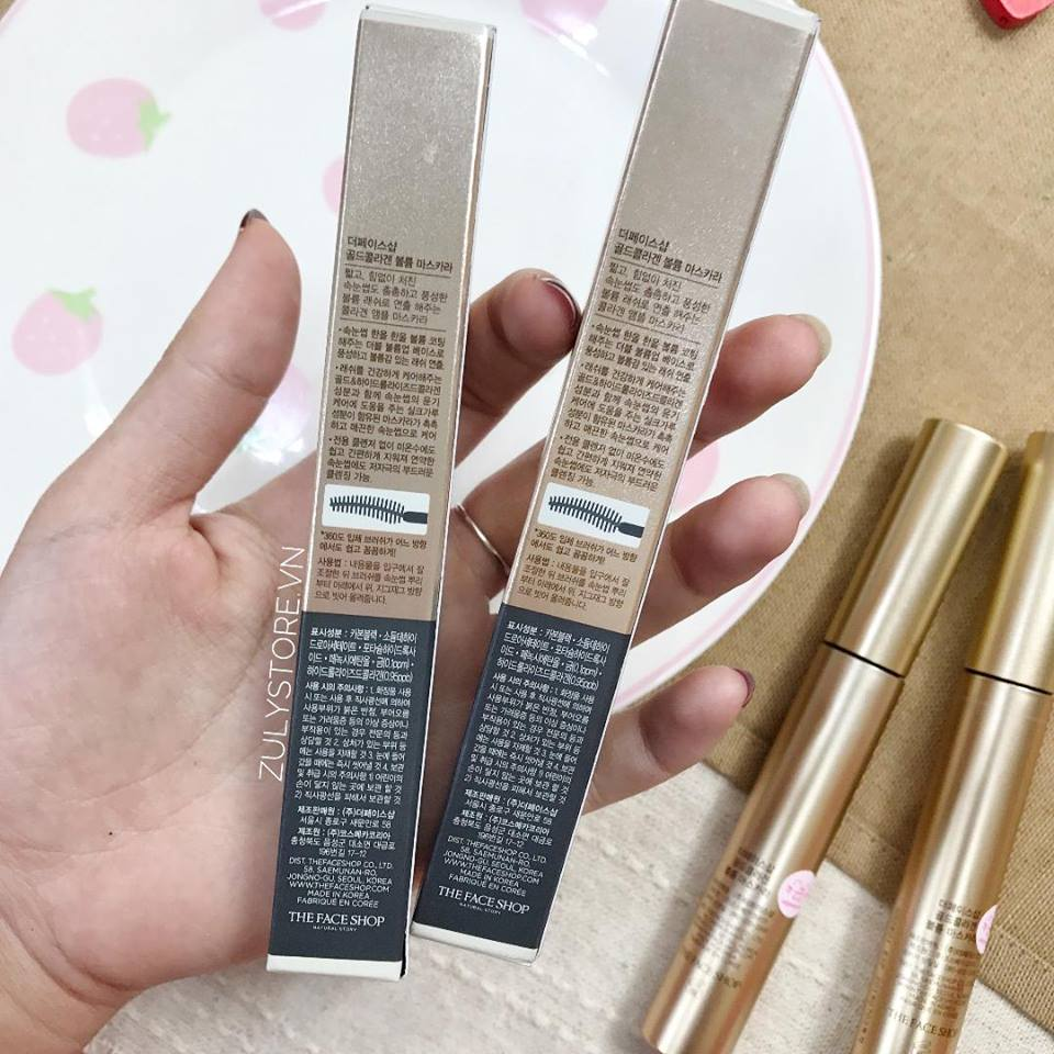 Mascara The Face Shop Gold Collagen Volume 3