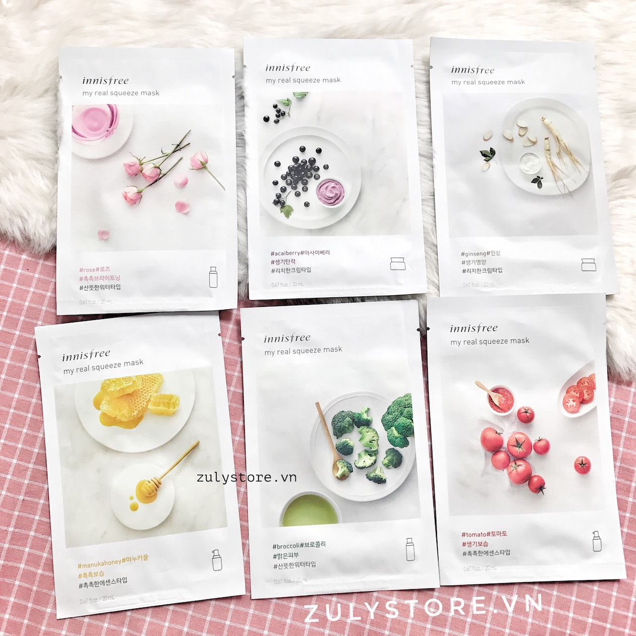Mặt nạ Innisfree My Real Squeeze Mask 2017 3