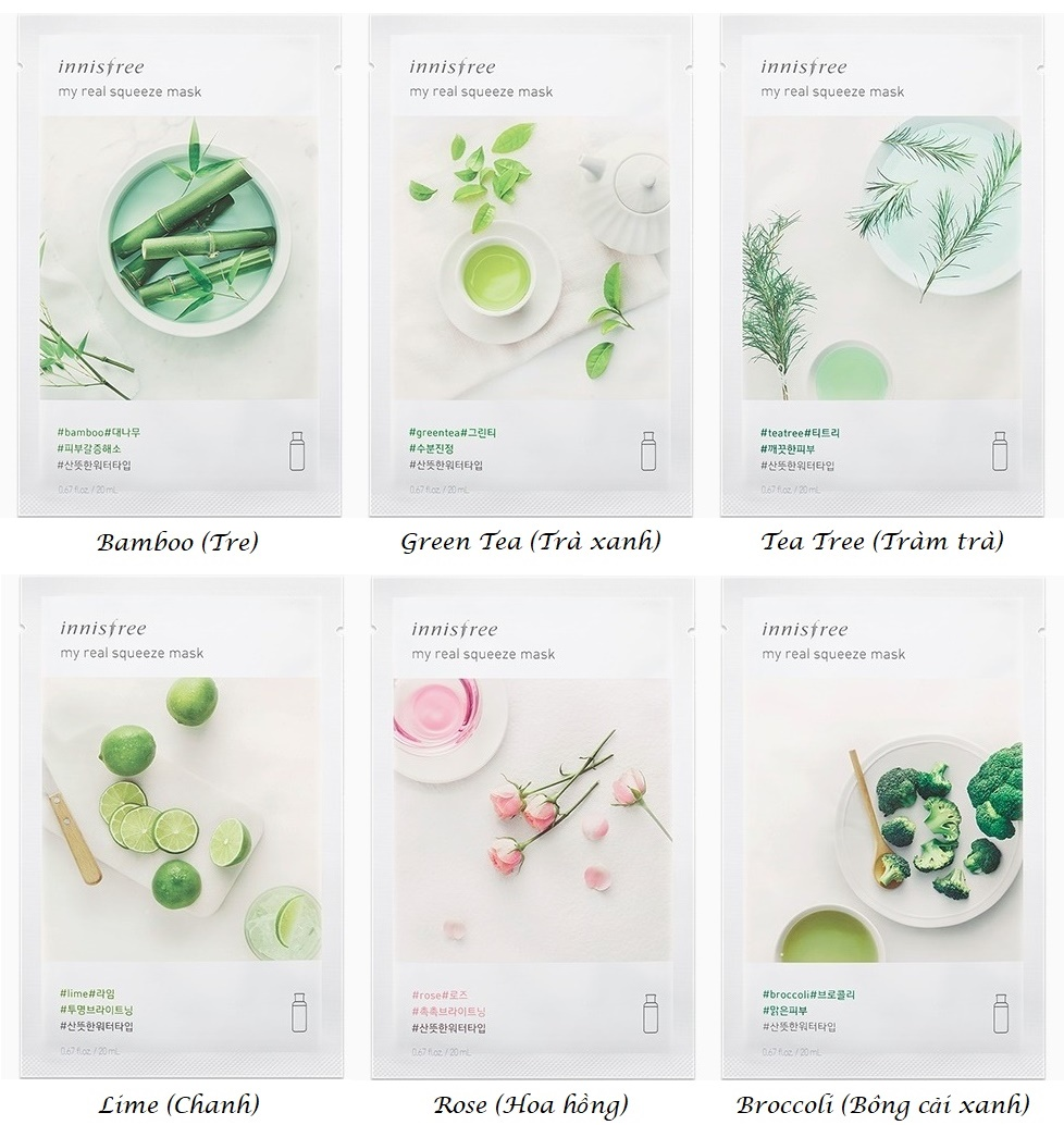 Mặt nạ Innisfree My Real Squeeze Mask 2017 5