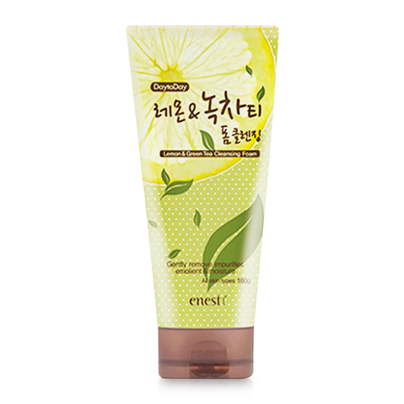 hinh anh sua rua mat tra xanh enesti daytoday lemon and green tea cleansing foam