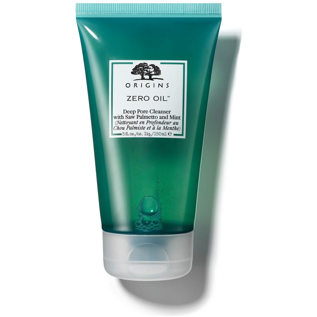 hinh anh sua rua mat tri mun cho da dau origins zero oil deep pore cleanser with saw palmetto mint