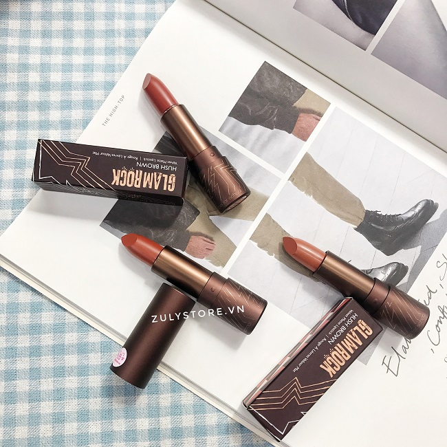 Son Glam Rock Hush Brown Velvet Matte Lipstick 3