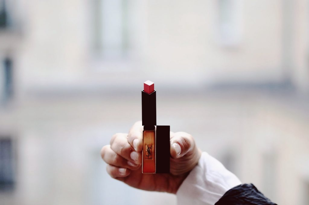 Image result for Yves Saint Laurent Rouge Pur Couture The Slim Matte Lipstick màu Contrary Fuchsia